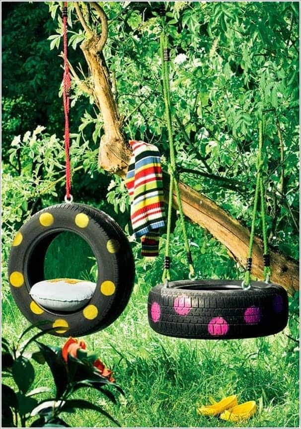 10 DIY Recycled Tires Decoration Ideas for Your Garden 4 - Garden Decor
