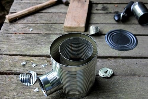 Diy: Tin-can Portable Rocket Stove - grills-bbq-firepits