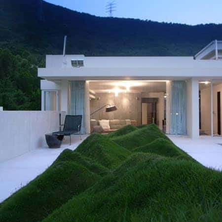 Undulating Lawn on the Terrace - landscaping