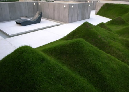 Undulating Lawn on the Terrace Landscapes