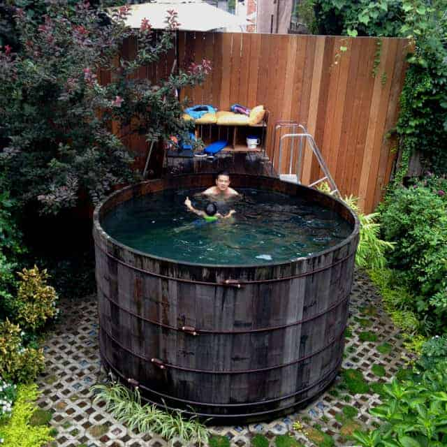 Repurposed Nyc Water Tower in Above Ground Pool - pools-spas