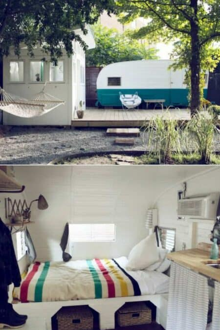 60's Camper and Backyard Bathhouse 9 - Summer & Tree Houses