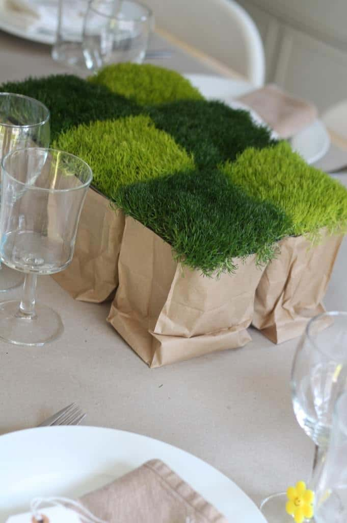 Moss Centerpiece - flowers-plants-planters