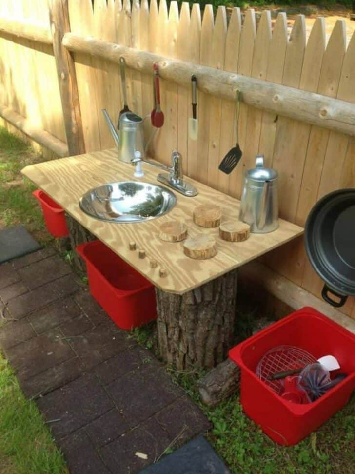 20 Mud Kitchen Ideas for Kids 11 - Kids Playhouses & Playgrounds - 1001 Gardens