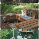 20 Mud Kitchen Ideas for Kids