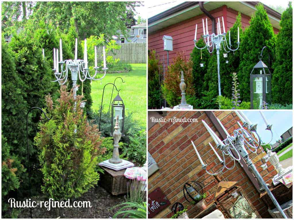 How to Make an Outdoor Candle Chandelier