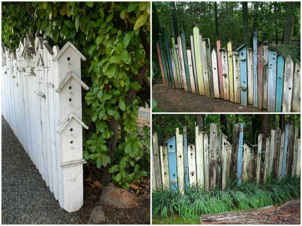 Birdhouse Fences - fences, feeders-birdhouses