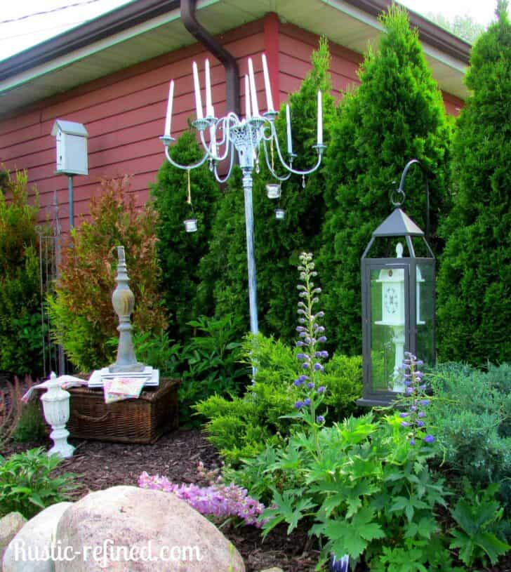 How to Make an Outdoor Candle Chandelier - outdoor-lighting