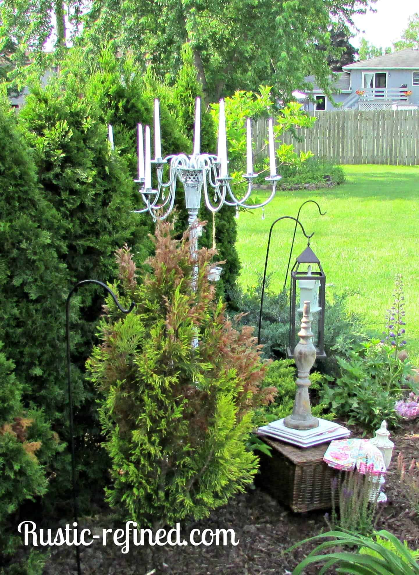 How To Make An Outdoor Candle Chandelier 1001 Gardens