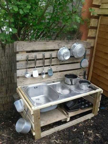 top 20 of mud kitchen ideas for kids garden ideas 1001