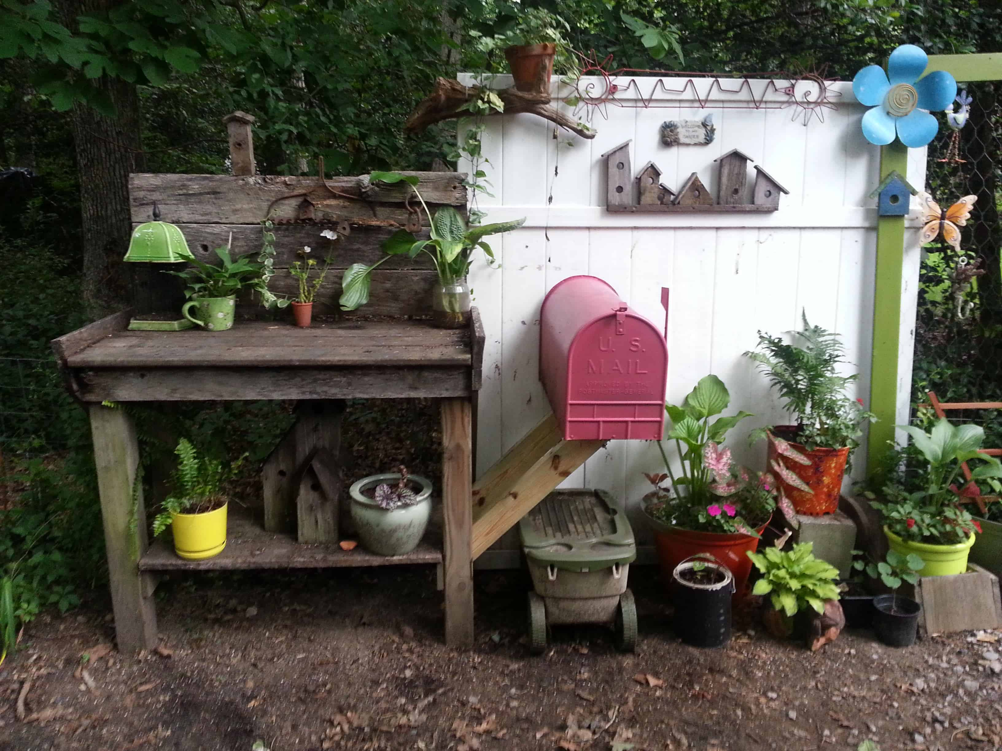 Yard Potting Area