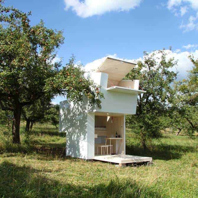 The Seelenkiste Cabin Concept by Bauhaus-university Professor Michael Loudon Sheds, Huts & Tree Houses