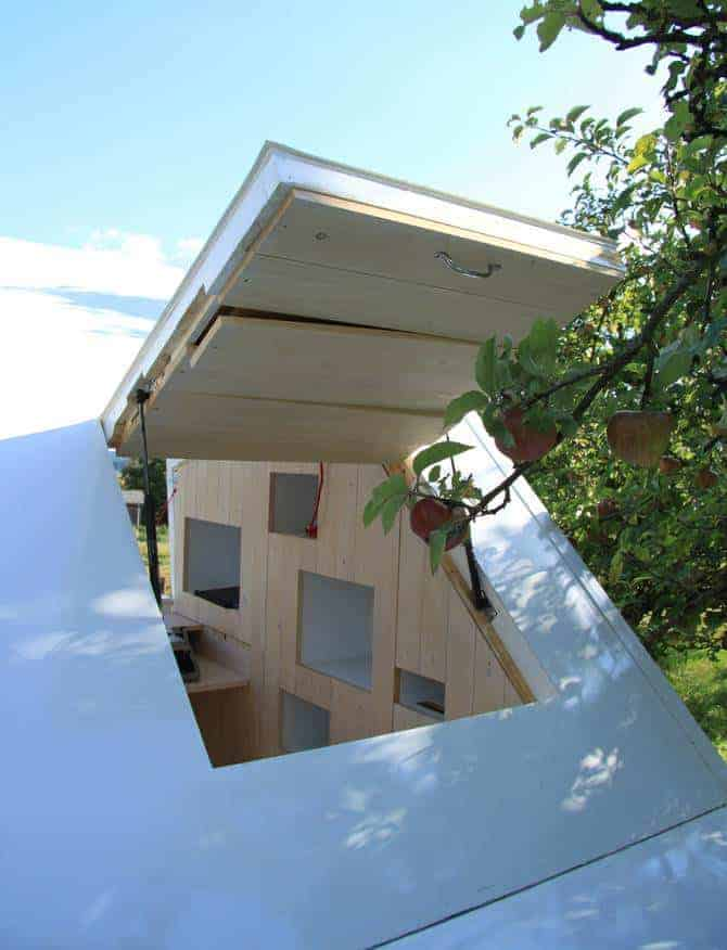 The Seelenkiste Cabin Concept by Bauhaus-university Professor Michael Loudon - sheds-huts-treehouses
