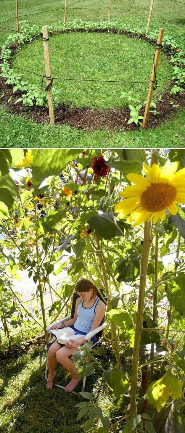 Grow a Sunflower House as Kids Playhouse 27 - Kids Playhouses & Playgrounds