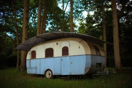 Repurposed Abandoned Trailer 46 - Summer & Tree Houses