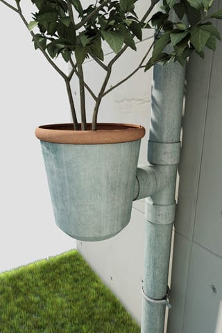 Planter Plugged in Gutters Flowers, Plants & Planters