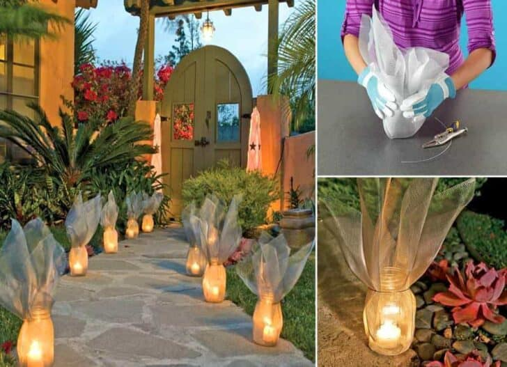 Diy: Garden Luminaries Outdoor lighting