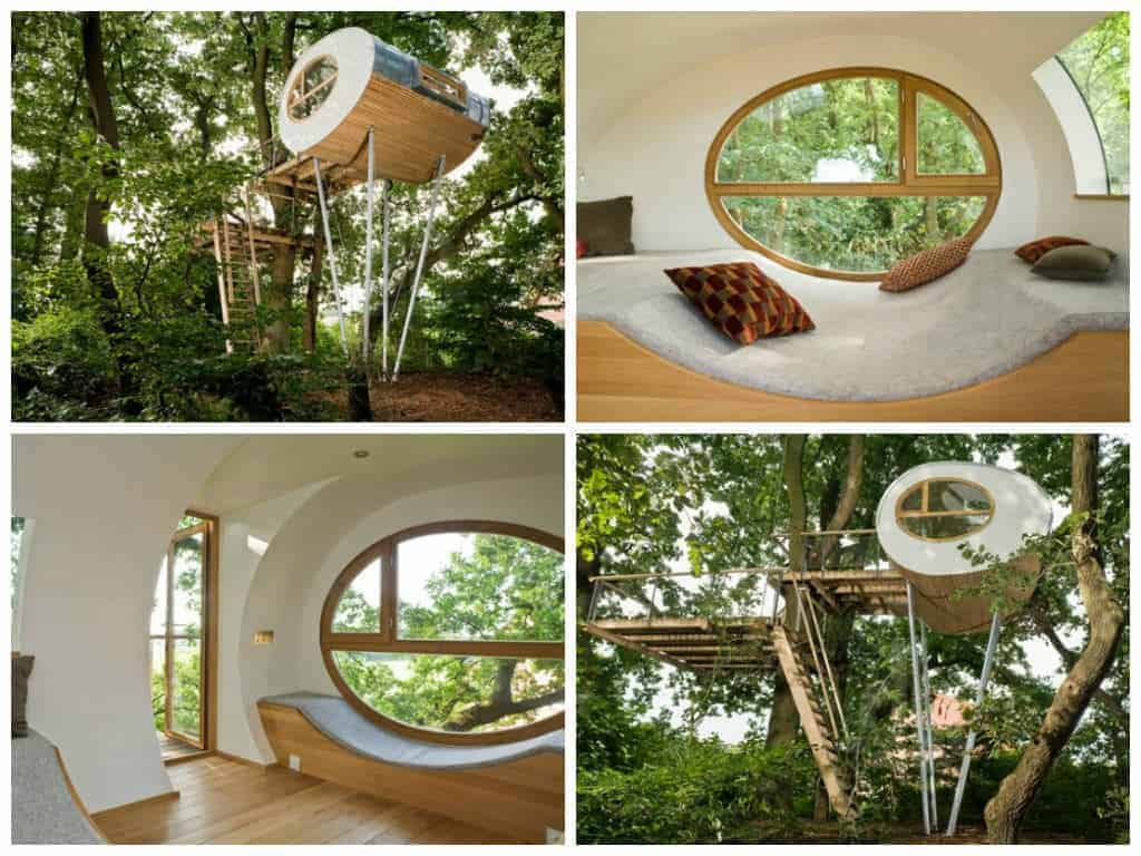 Design and Comfortable Beautiful Tree House - sheds-huts-treehouses