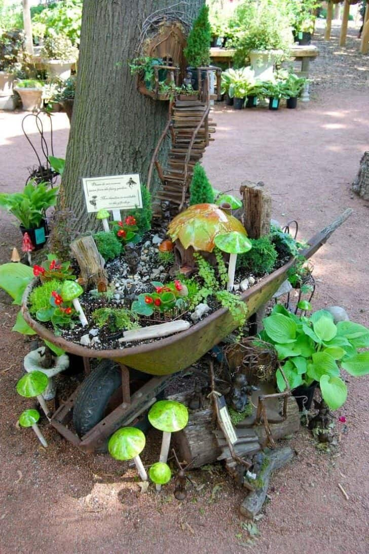 Wheelbarrow Fairy Garden 1 - Flowers & Plants - 1001 Gardens