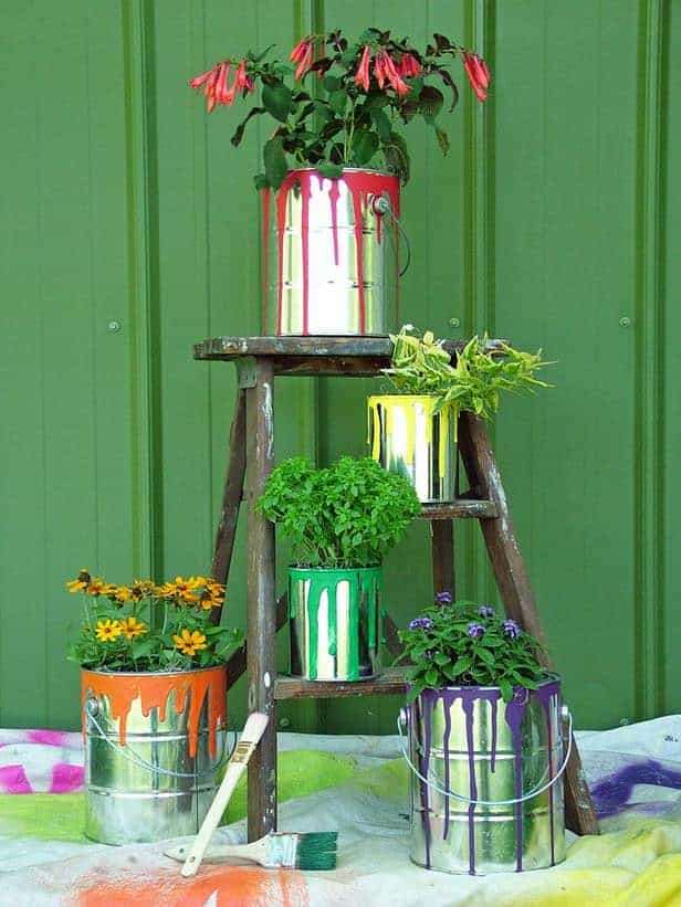 Container Garden Art - flowers-plants-planters