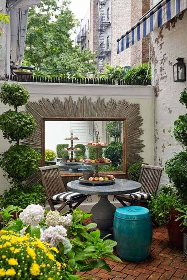 Small urban garden in manhattan 1001 gardens for Terrace kitchen garden ideas