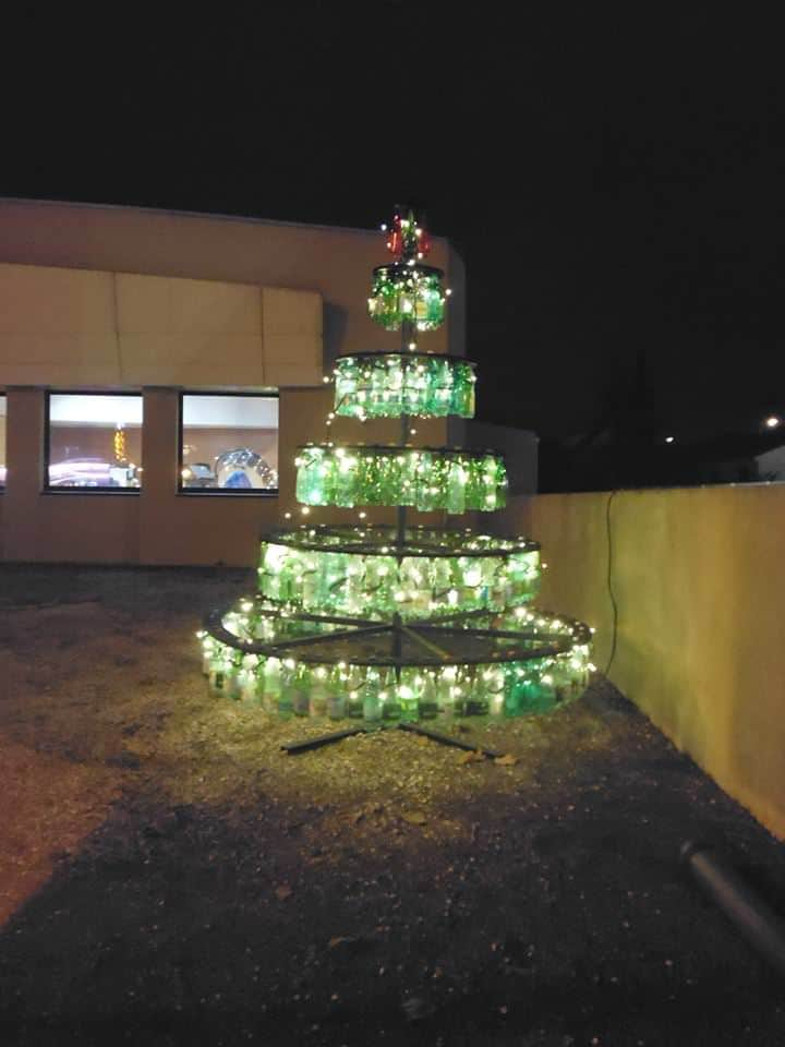 Plastic Bottles Christmas Beautiful Tree Garden Decor