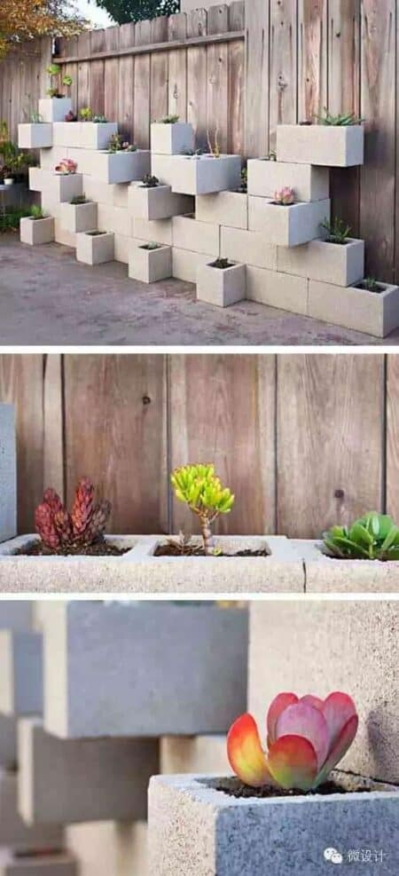 10 Ideas to Recycle Cinder Blocks in the Garden