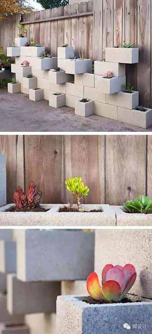 10 Ideas to Recycle Cinder Blocks in the Garden - patio-outdoor-furniture