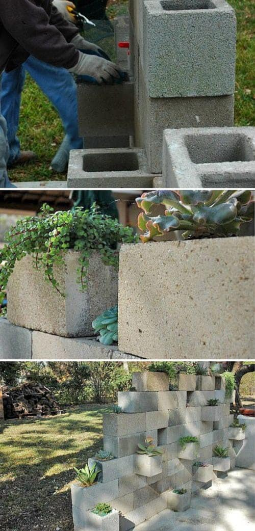 10 Ideas to Recycle Cinder Blocks in the Garden 1 - Patio & Outdoor Furniture