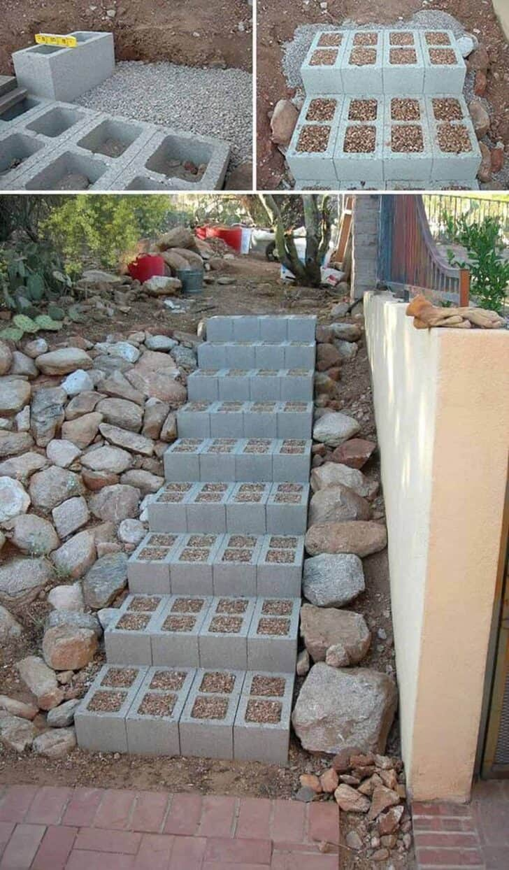 10 Ideas to Recycle Cinder Blocks in the Garden 5 - Patio & Outdoor Furniture