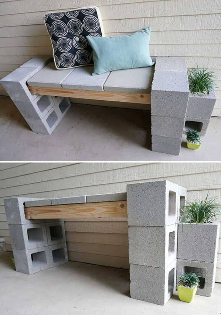 10 Ideas to Recycle Cinder Blocks in the Garden 8 - Patio & Outdoor Furniture