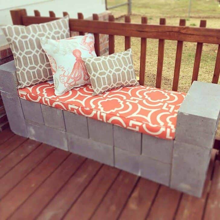 10 Ideas to Recycle Cinder Blocks in the Garden 13 - Patio & Outdoor Furniture