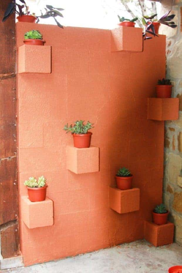 10 Ideas to Recycle Cinder Blocks in the Garden 17 - Patio & Outdoor Furniture