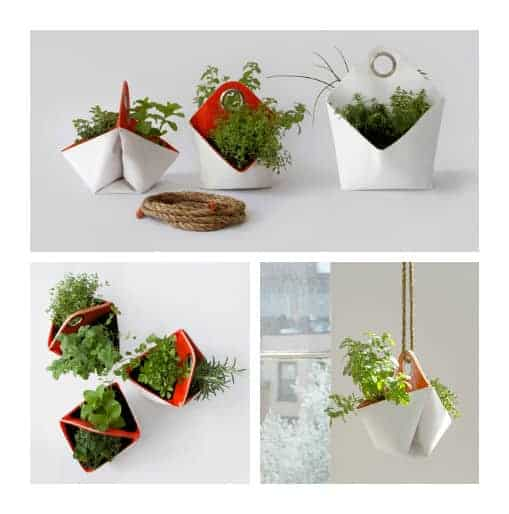Reclaimed Boat Sails Upcycled into Planters - flowers-plants-planters