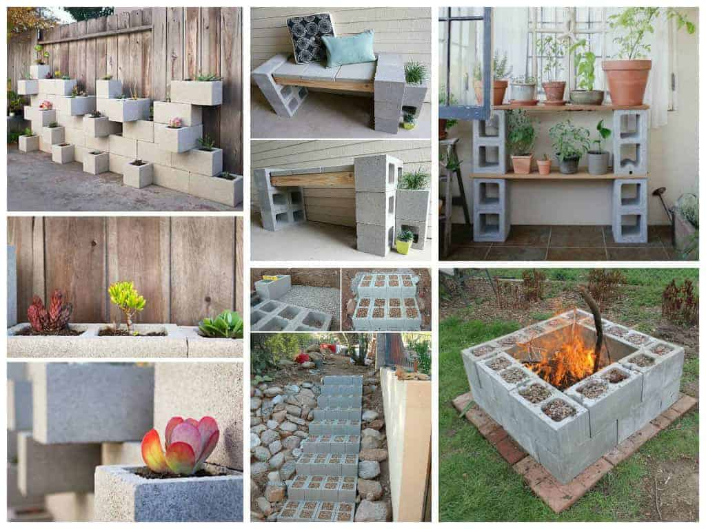 10 ideas to recycle cinder blocks in the garden 1001 gardens for Deco de jardin exterieur