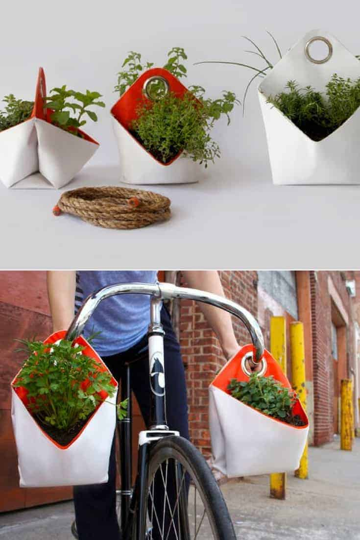 Reclaimed Boat Sails Upcycled Into Planters 1001 Gardens