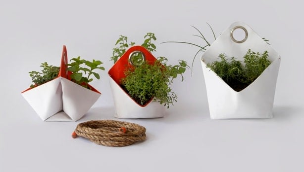 Reclaimed Boat Sails Upcycled into Planters Flowers, Plants & Planters