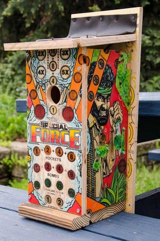Repurposed Pinball Birdhouses 1 - Bird Feeders & Houses