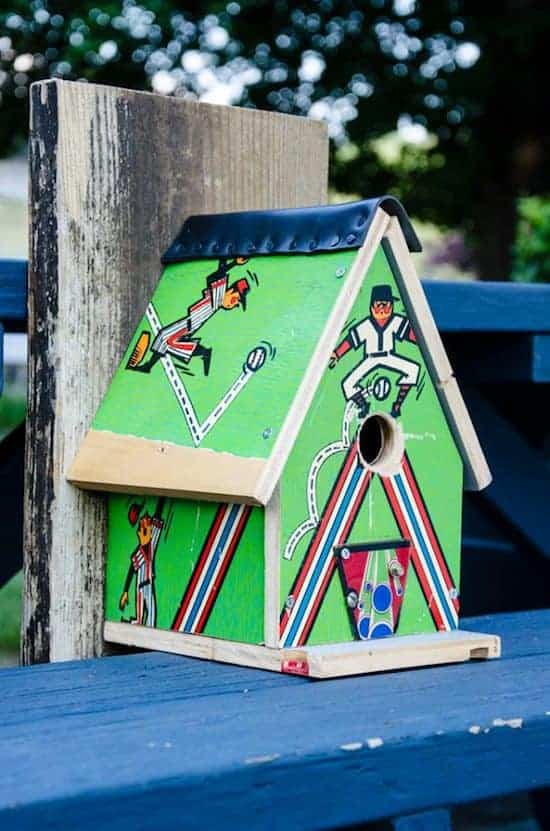 Repurposed Pinball Birdhouses 6 - Bird Feeders & Houses