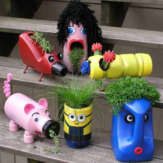 Lovely Planters for Kids from Upcycled Plastic Bottles 12 - Kids Playhouses & Playgrounds