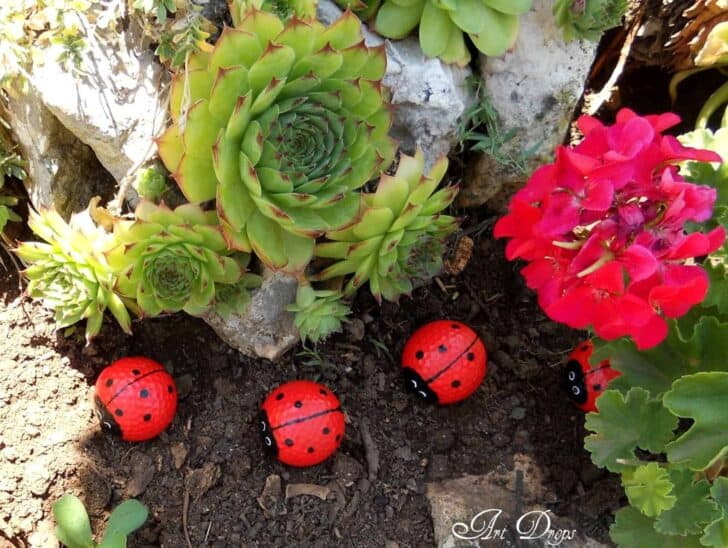 Diy Happy Ladybug Golf Balls Garden Decor 1001 Gardens
