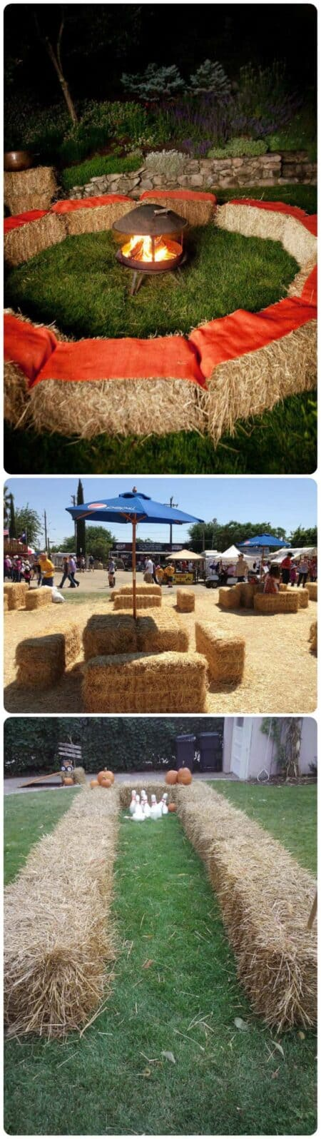 18 Ways to Use Straw Bales for a Shabby Chic Wedding/Garden Party 17 - Patio & Outdoor Furniture