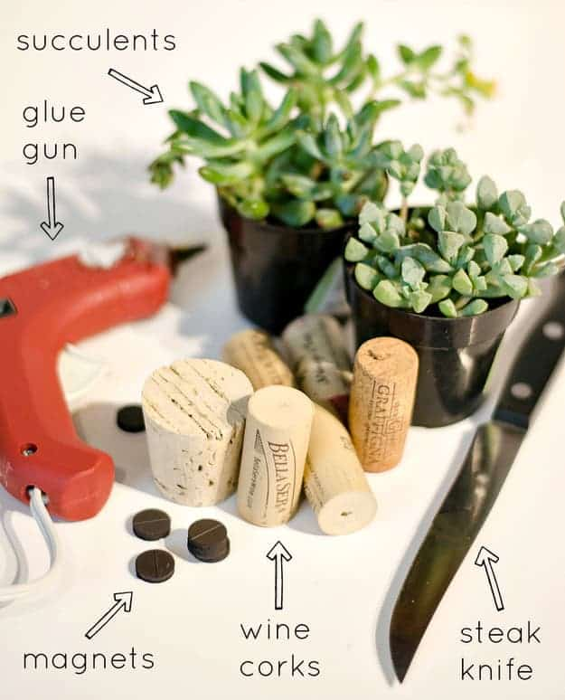 Diy: Tiny Planters From Upcycled Wine Corks - flowers-plants-planters