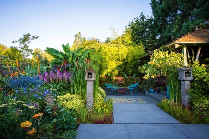 Portland Colored Garden Landscape Landscapes