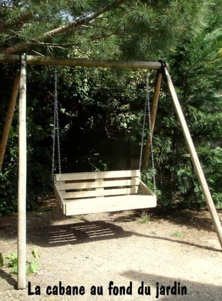 Upcycled Pallet Wood Swing for Your Garden 28 - Pallets Projects & Furniture