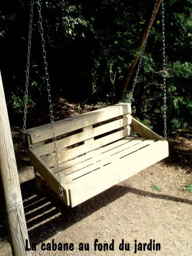Upcycled Pallet Wood Swing For Your Garden 1001 Gardens