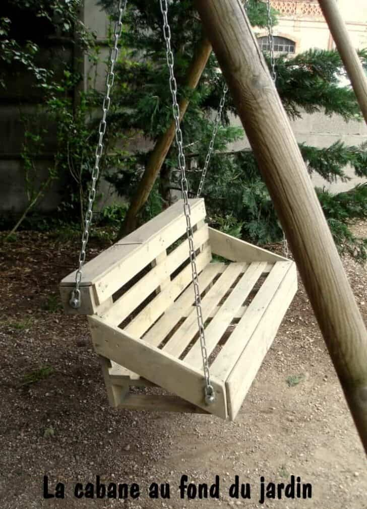 Upcycled Pallet Wood Swing for Your Garden 4 - Pallets Projects & Furniture