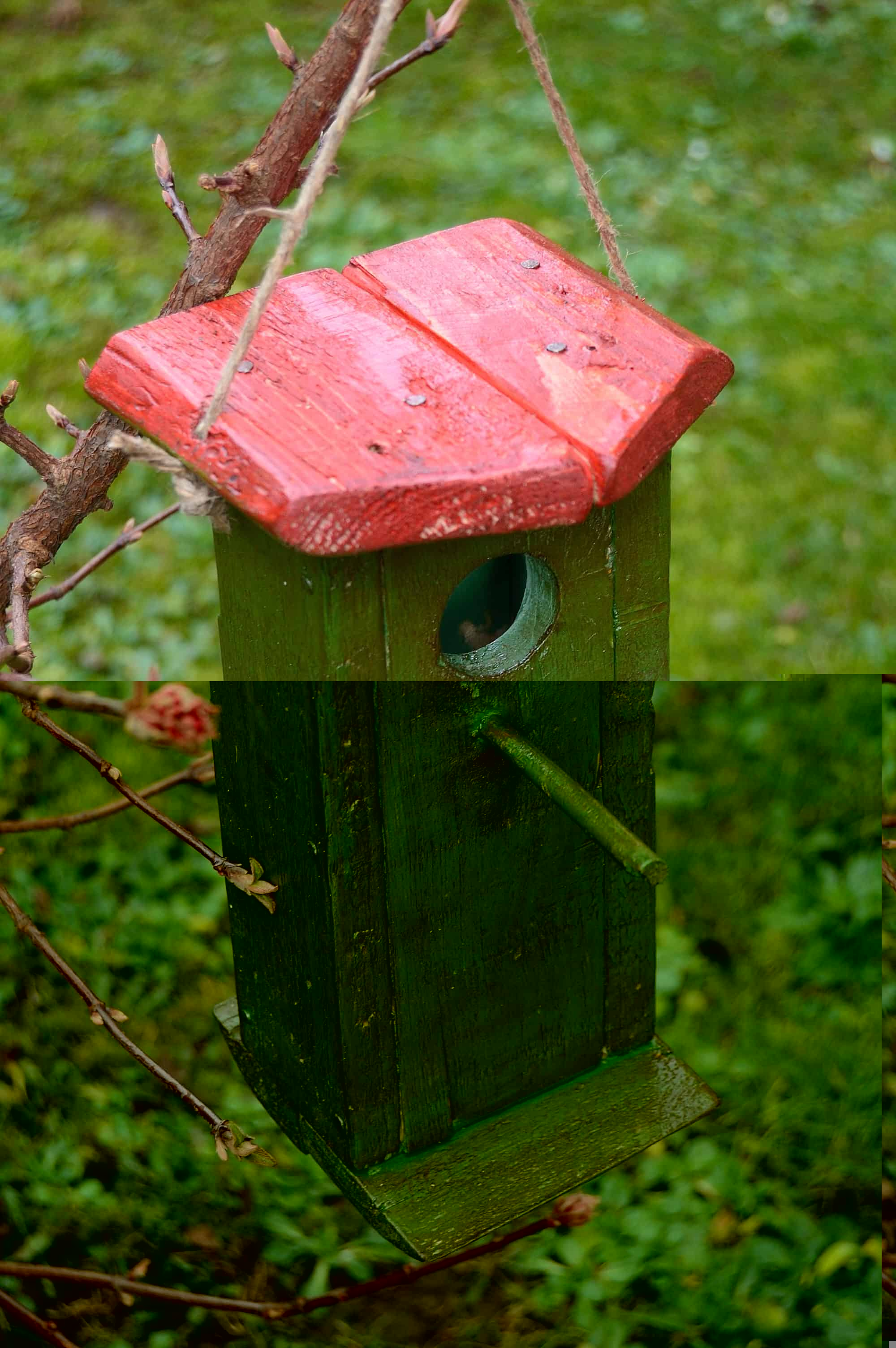 Birdhouse Made From Recycled Wooden Pallet - garden-pallet-projects-ideas, feeders-birdhouses