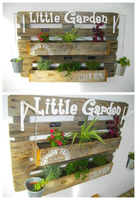 Upcycled Pallet Wall Planter 9 - Pallets Projects & Furniture