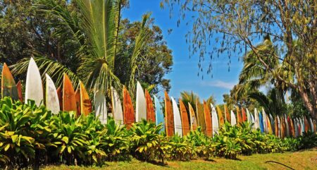 Upcycled Surfboard Fence 2 - Privacy Fences & Garden Gates - 1001 Gardens